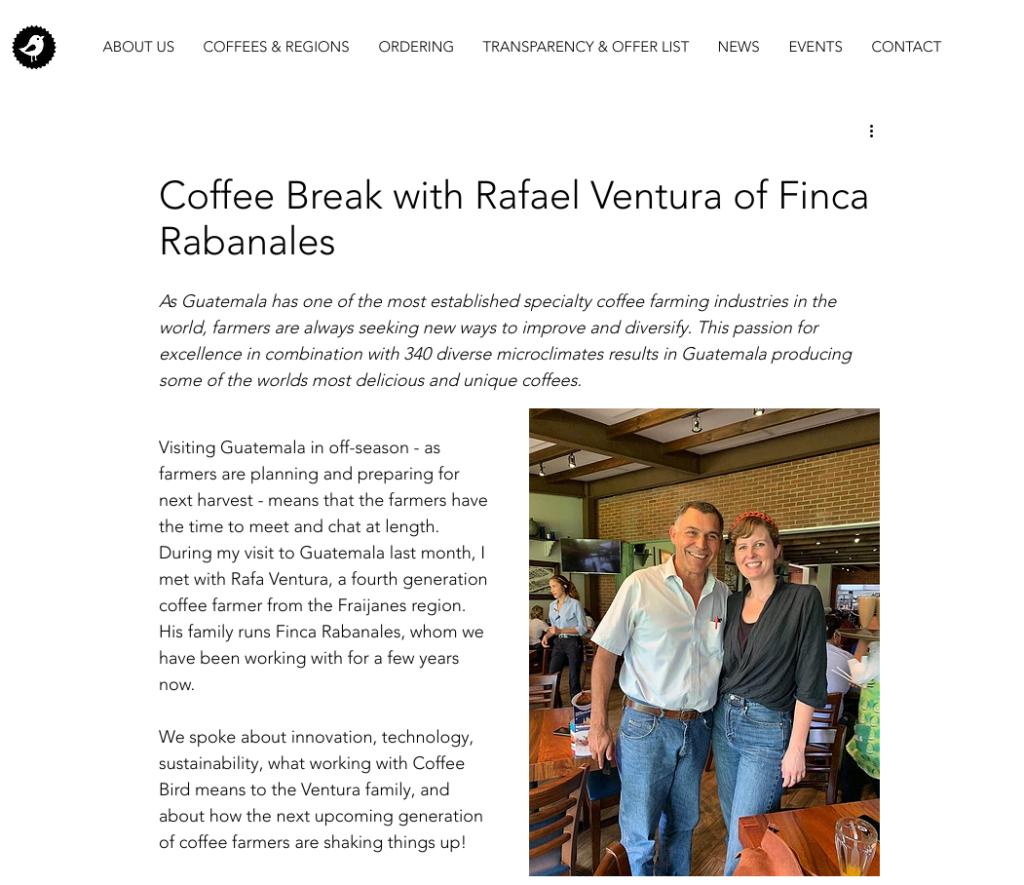 coffee farmer interview coffee bird lani kingston