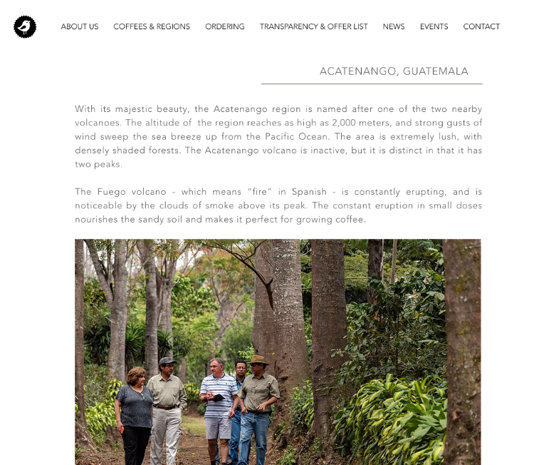 acatenango guatemala coffee growing region